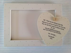 Shabby personalised Gift Chic Dad Father Of The Bride Photo Frame 20 X 15 cm